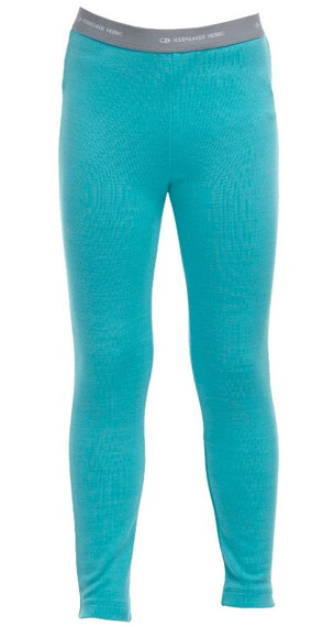 Icebreaker Kids Compass Leggings Glacier/White